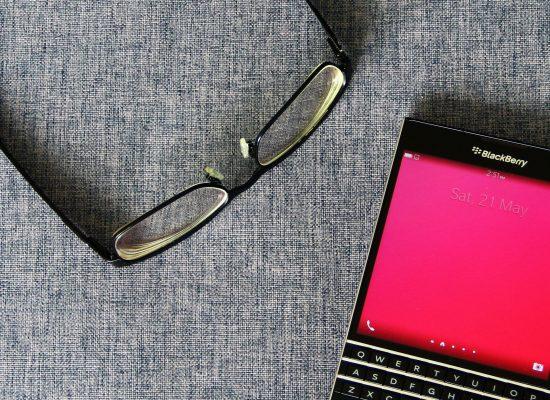 My BlackBerry Passport and my glasses